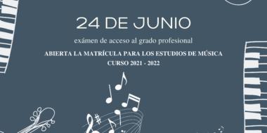 Exámenes de acceso al grado profesional de música